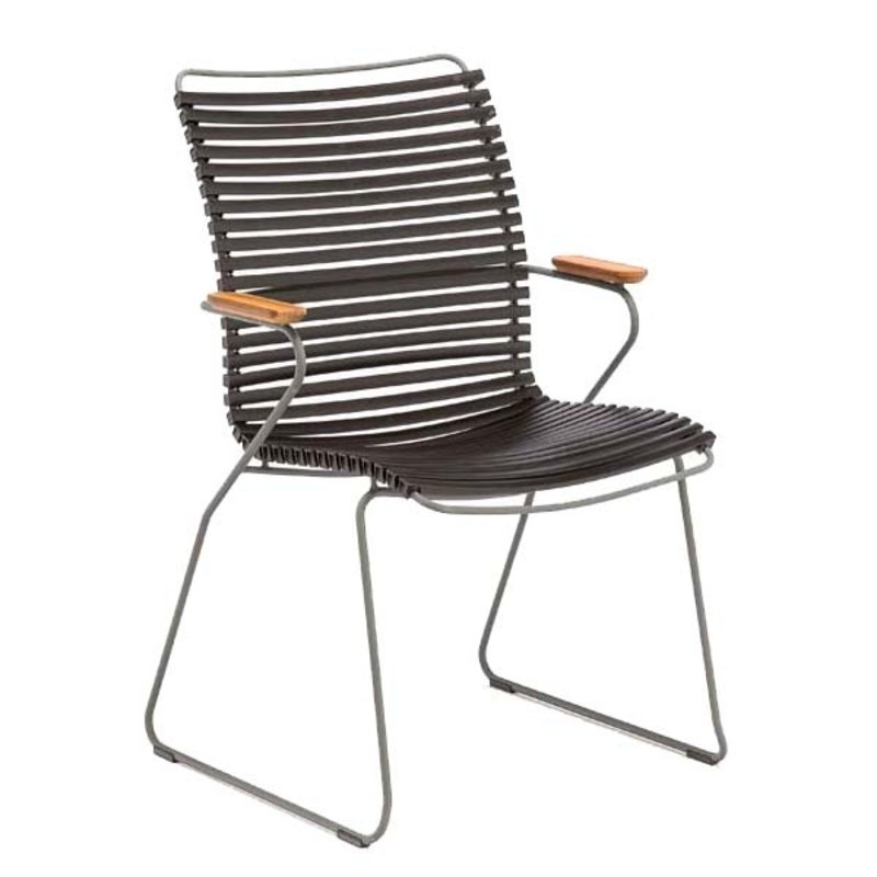 Houe-collectie CLICK armchair tall tuinstoel black