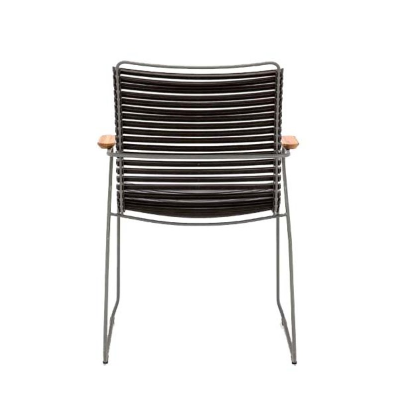 Houe-collectie CLICK Dining Chair Tall with Armrests in bamboo black