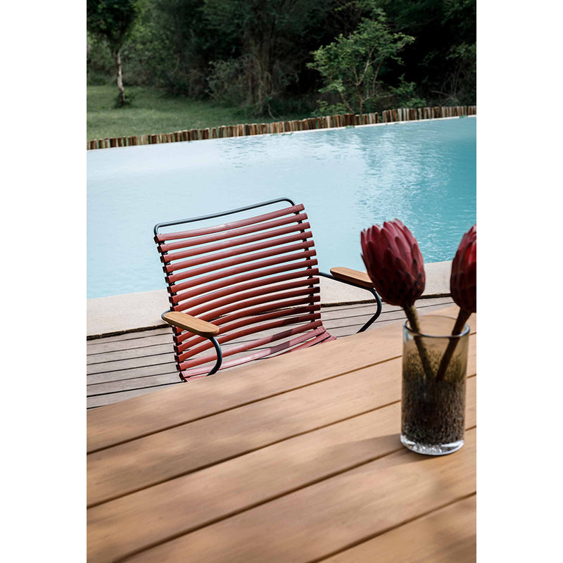 Houe-collectie CLICK Dining Chair with Armrests in bamboo paprika