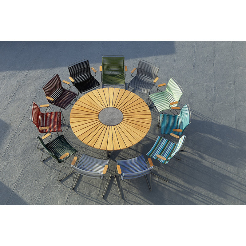 Houe-collectie CLICK Dining Chair with Armrests in bamboo grey