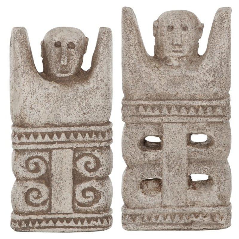 MUST Living-collectie Ethnisch beeld Kubur Batu Sumba, set van 2