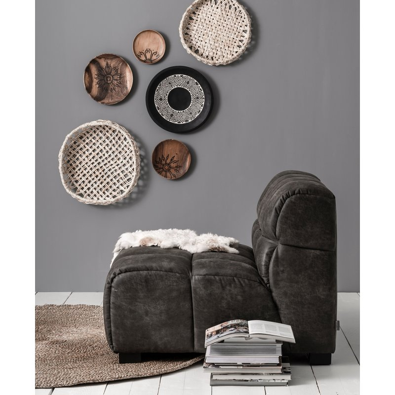 MUST Living-collectie Loveseat Waves antraciet