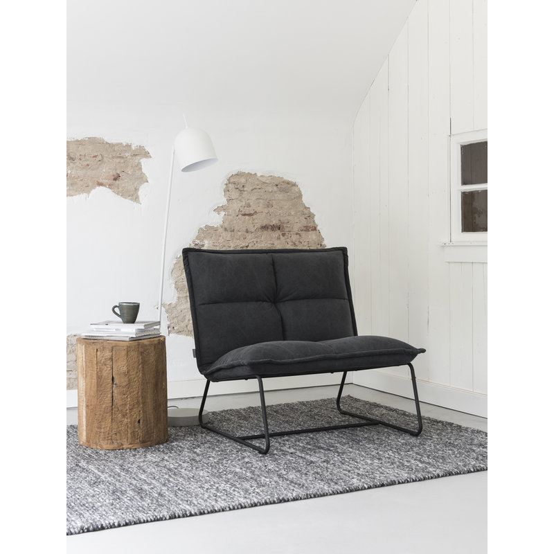 MUST Living-collectie Loungestoel XL Cloud antraciet