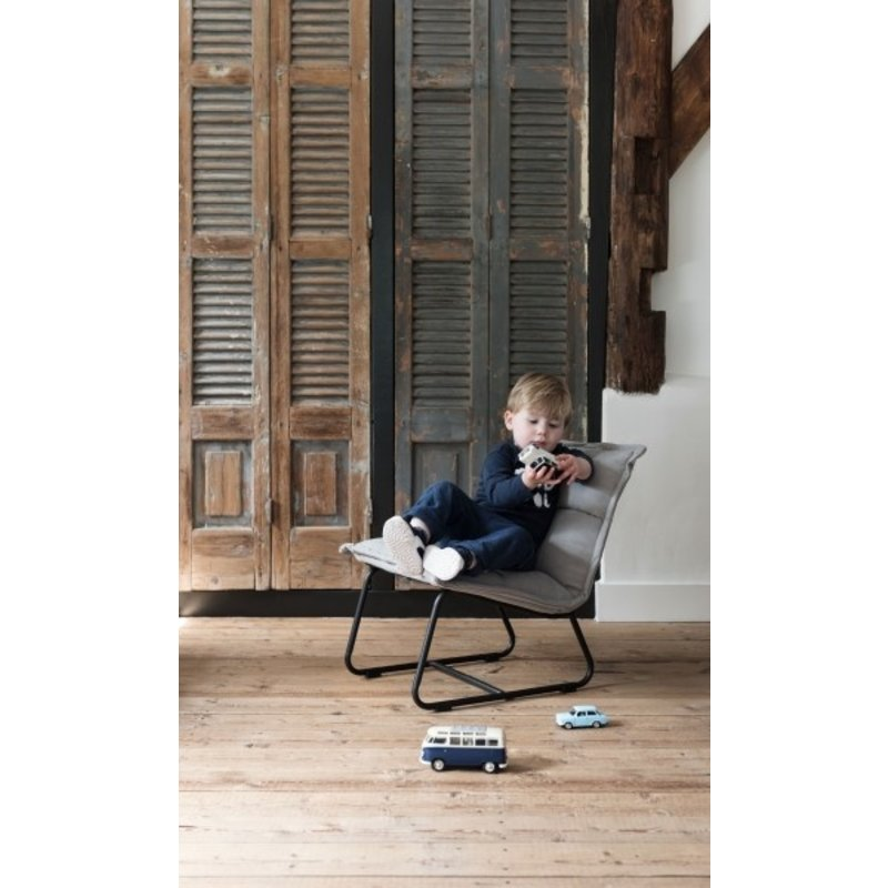 MUST Living-collectie Loungestoel KIDS- Cloud grijs