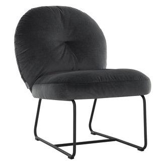 MUST Living Loungestoel Bouton antraciet
