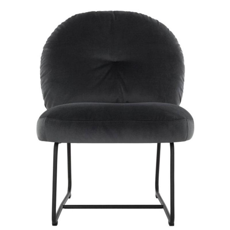 MUST Living-collectie Loungestoel Bouton antraciet