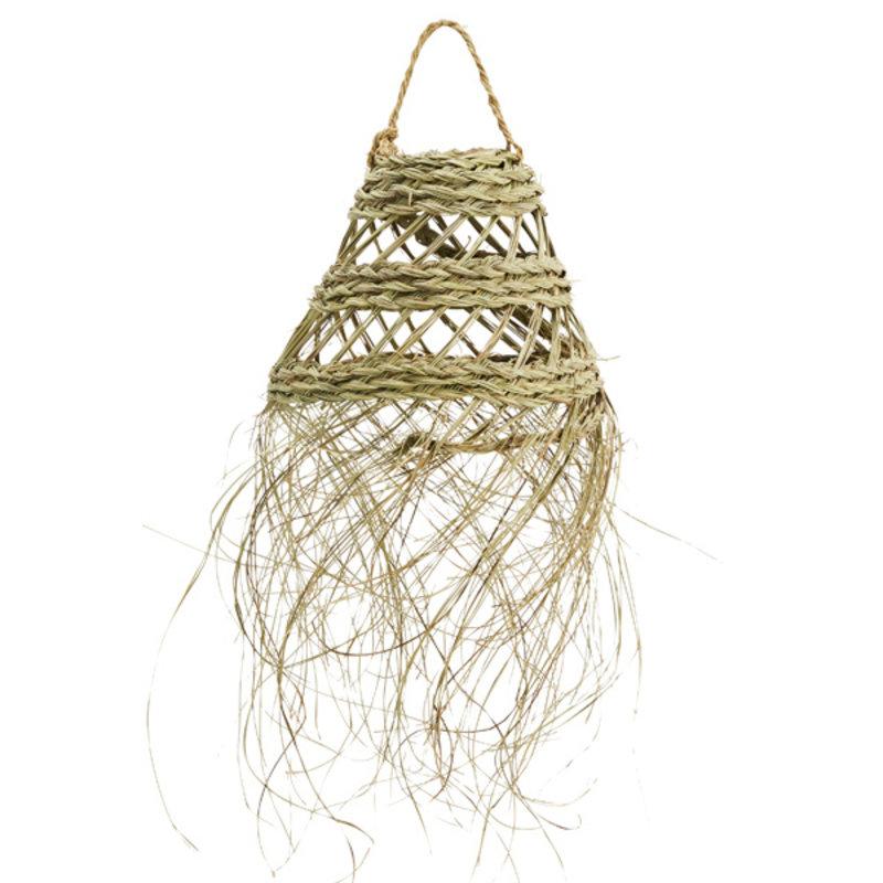 Madam Stoltz-collectie Lampenkap van palmbladen 25x20 cm