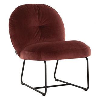 MUST Living Loungestoel Bouton steenrood