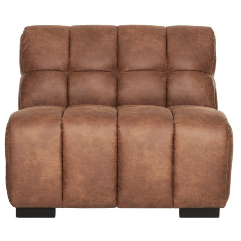 MUST Living-collectie Loveseat Waves cognac