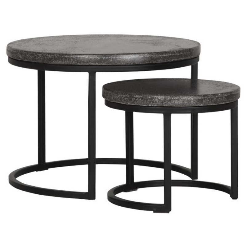 MUST Living-collectie Coffee table Mont Blanc set of 2 round