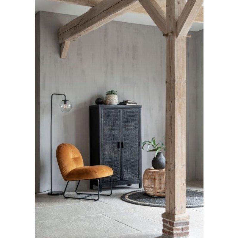 MUST Living-collectie Webbing kast 2 deurs Provence zwart