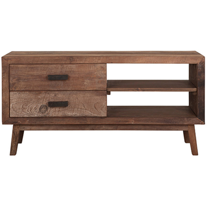 MUST Living-collectie TV stand Vintage, 2 drawers, 2 open racks
