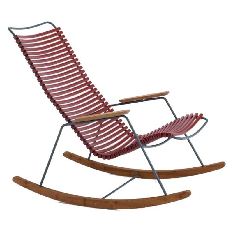 Houe-collectie CLICK Rocking Chair with Paprika lamellas
