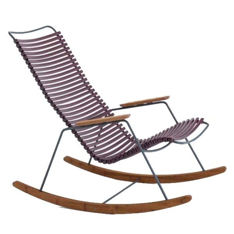 Houe-collectie CLICK Rocking Chair with Plum lamellas
