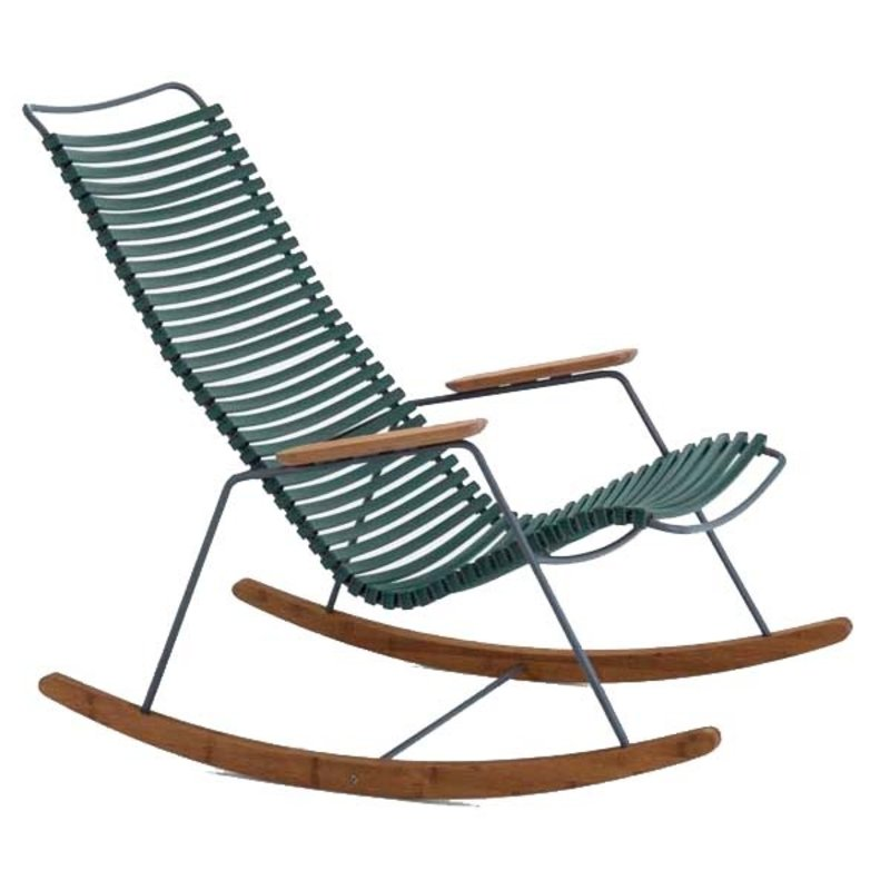 Houe-collectie CLICK Rocking Chair with Pine Green lamellas