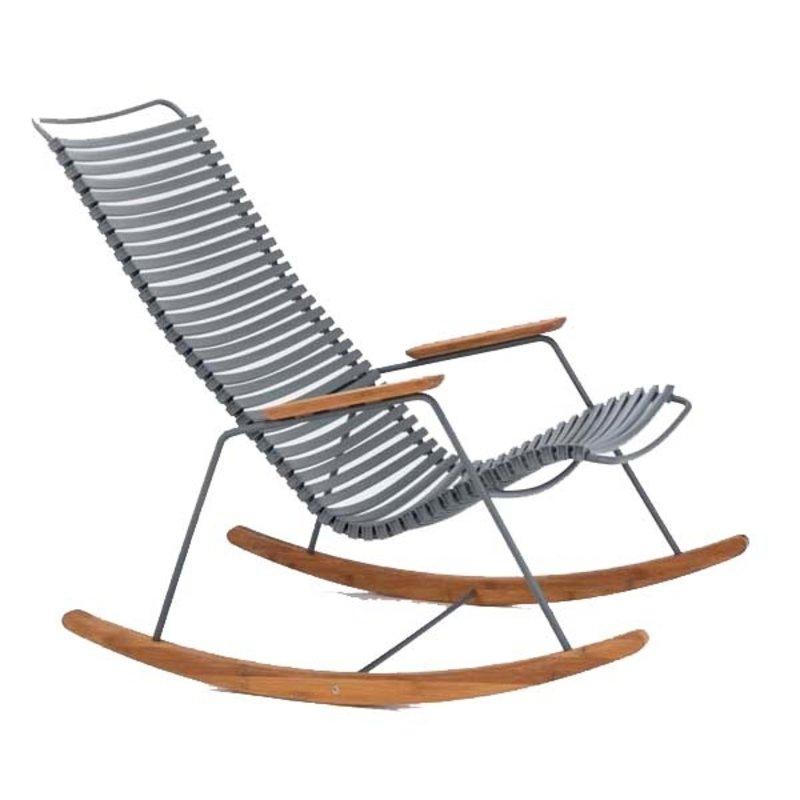 Houe-collectie CLICK Rocking Chair with Dark grey lamellas