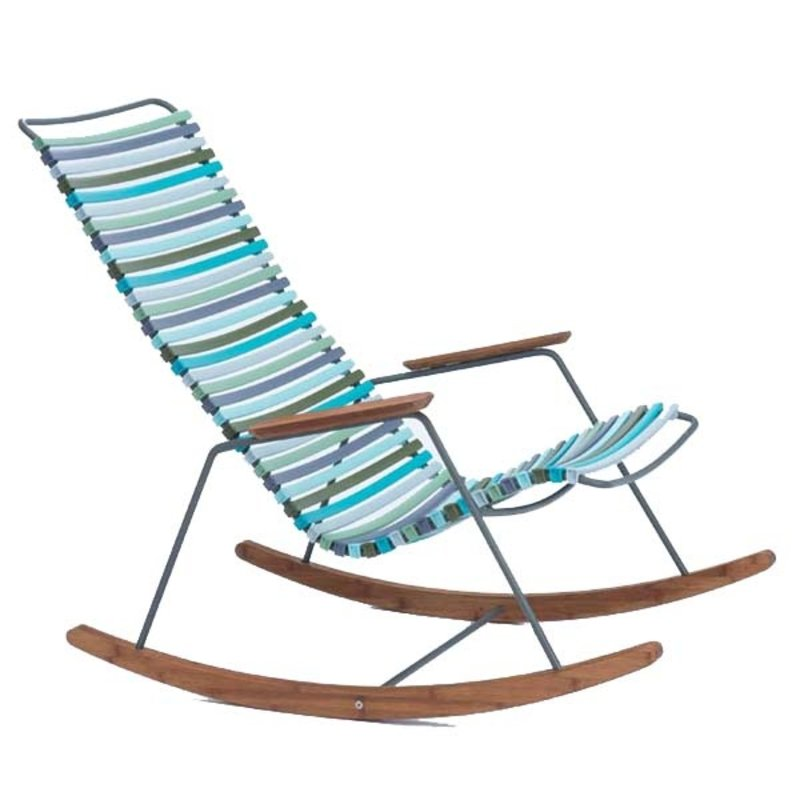 Houe-collectie CLICK Rocking Chair with Multi color 2 lamellas