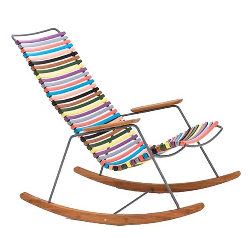 Houe-collectie CLICK Rocking Chair with Multi color 1 lamellas