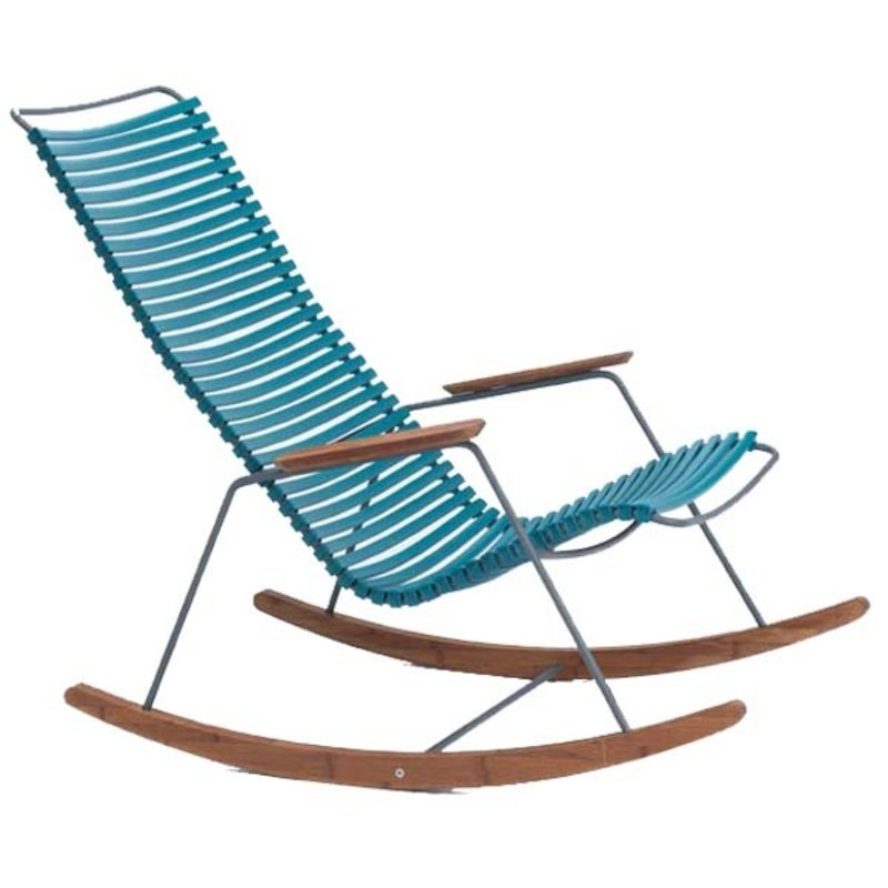 Houe-collectie CLICK Rocking Chair with Petrol lamellas