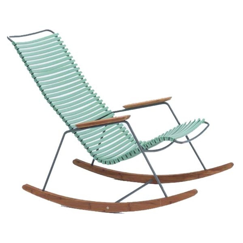 Houe-collectie CLICK Rocking Chair with Dusty Light Green lamella