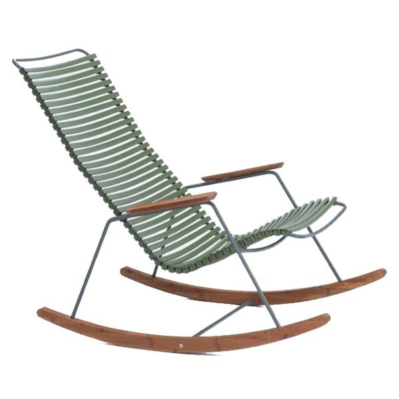 Houe-collectie CLICK Rocking Chair with Olive green lamellas