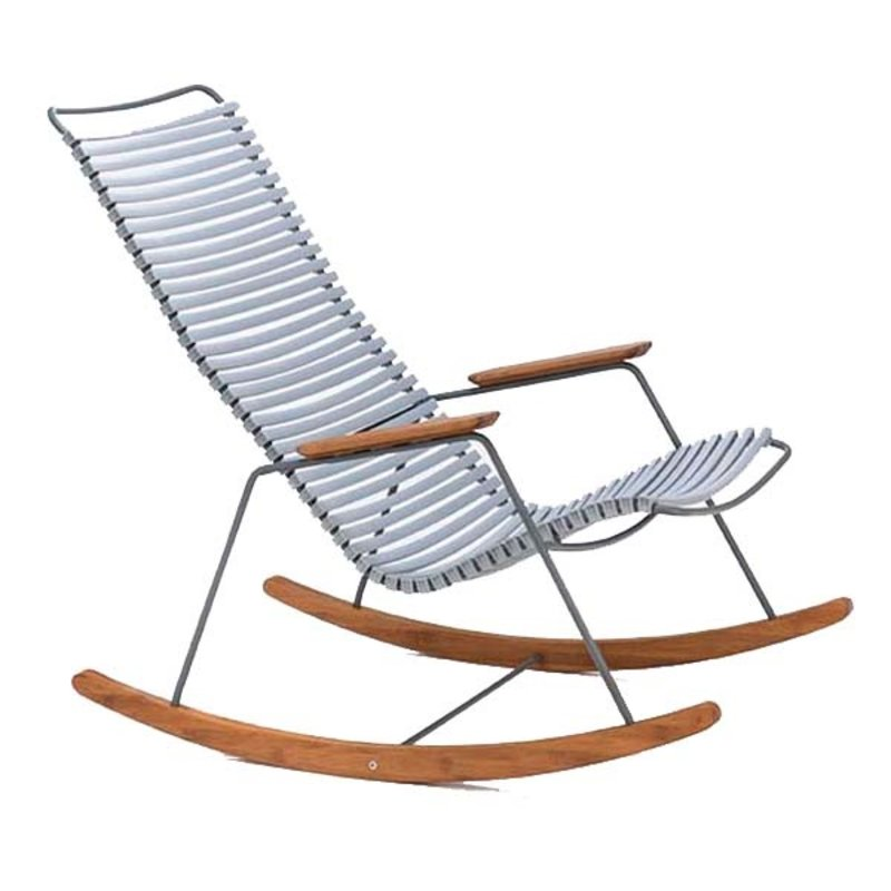 Houe-collectie CLICK Rocking Chair with Grey lamellas