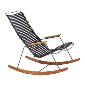 Houe CLICK Rocking Chair with Black lamellas