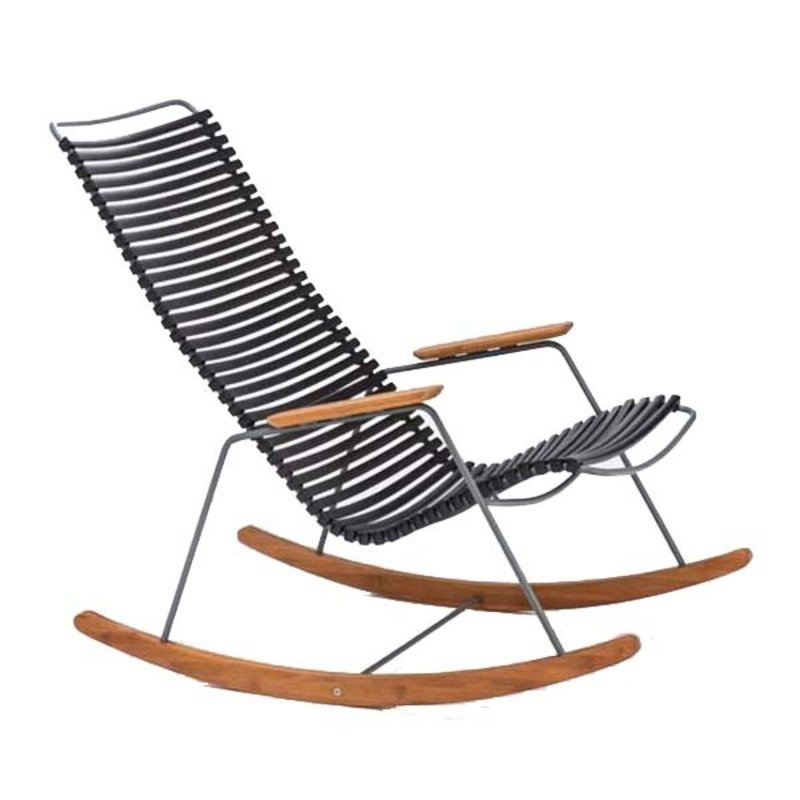 Houe-collectie CLICK Rocking Chair with Black lamellas