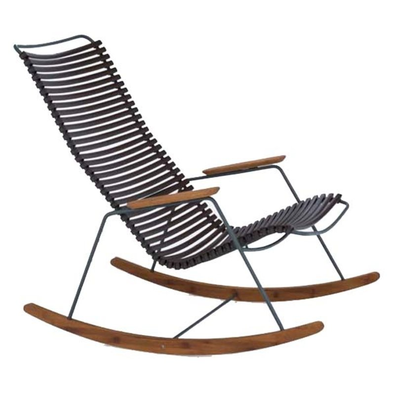 Houe-collectie CLICK Rocking Chair with Dark Brown lamellas