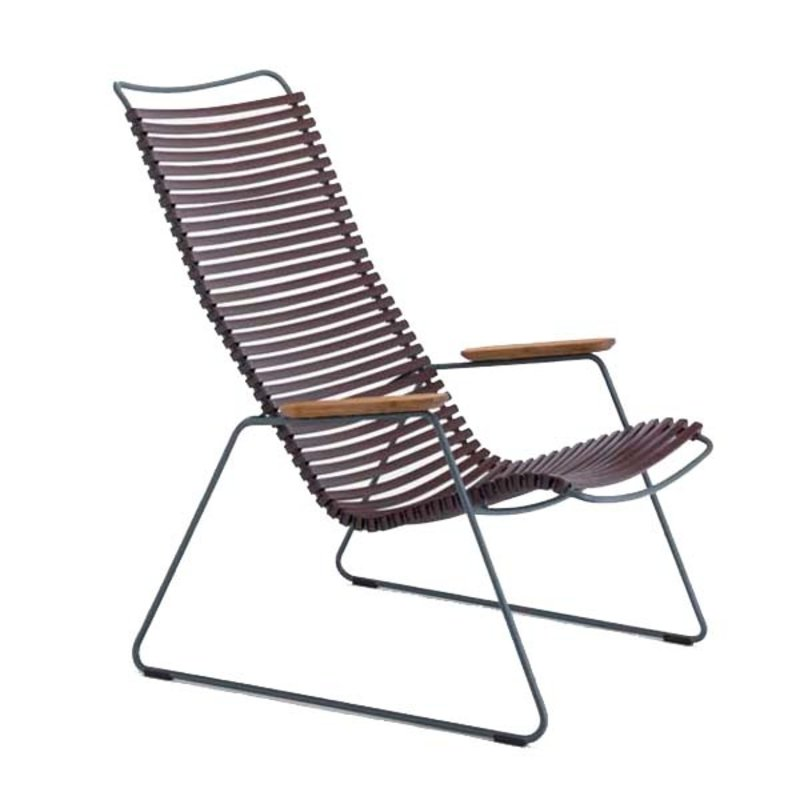 Houe-collectie CLICK Lounge Chair with Plum lamellas