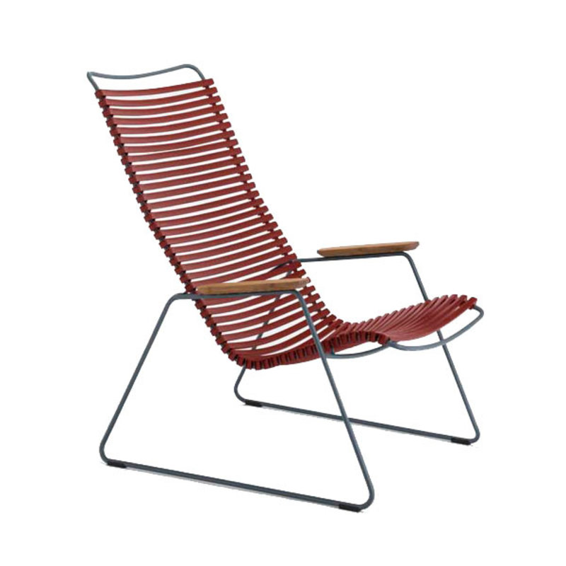 Houe-collectie CLICK Lounge Chair with Paprika lamellas