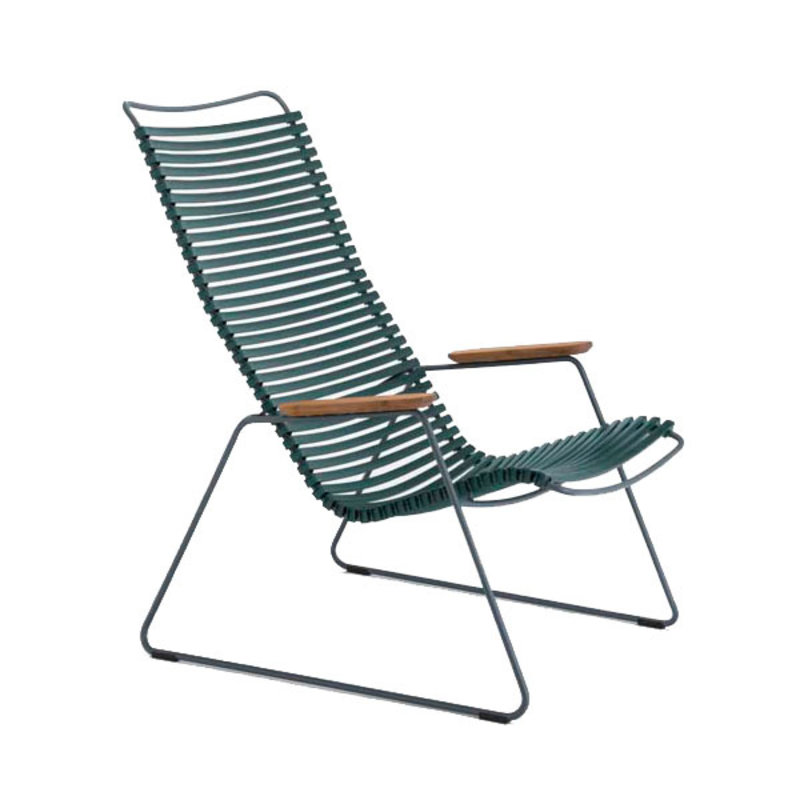 Houe-collectie CLICK Lounge Chair with Pine Green lamellas