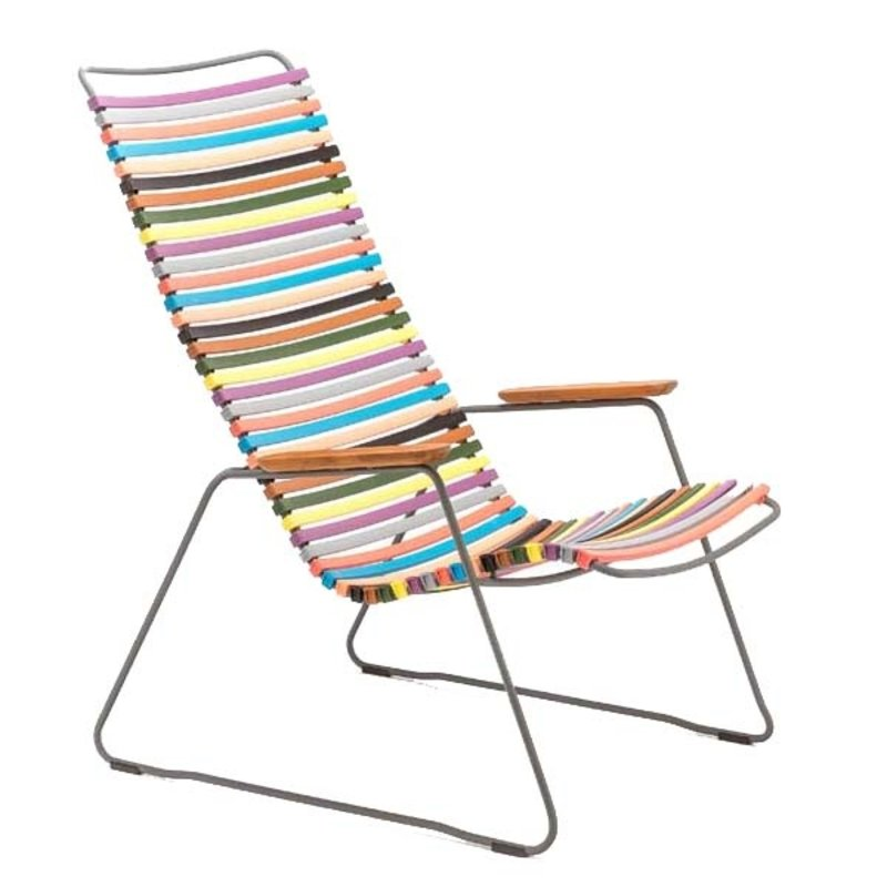 Houe-collectie CLICK Lounge Chair with Multi color 1 lamellas
