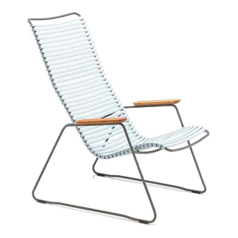Houe-collectie CLICK Lounge Chair with Dusty blue lamellas