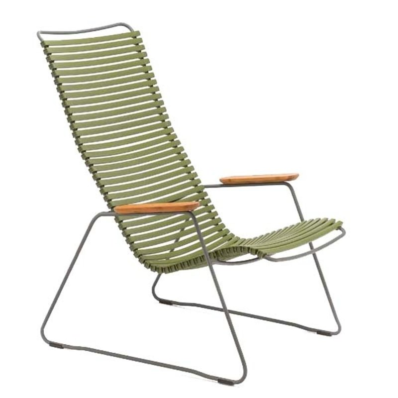 Houe-collectie CLICK Lounge Chair with Olive green lamellas