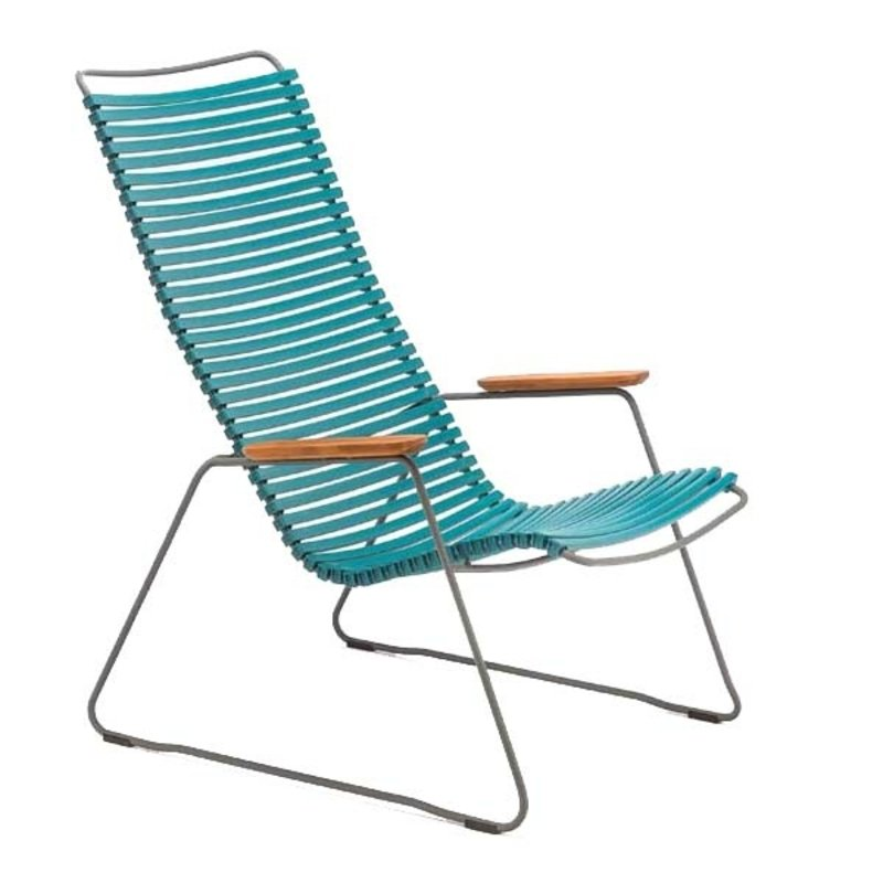 Houe-collectie CLICK Lounge Chair with Petrol lamellas