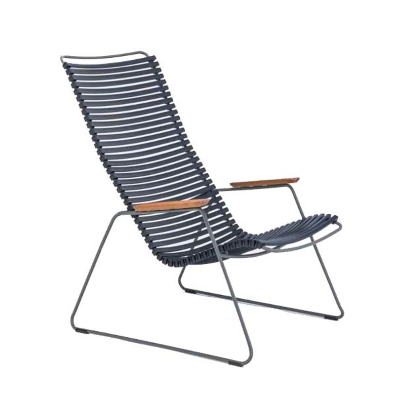 Houe-collectie CLICK Lounge Chair with Dark Blue lamellas