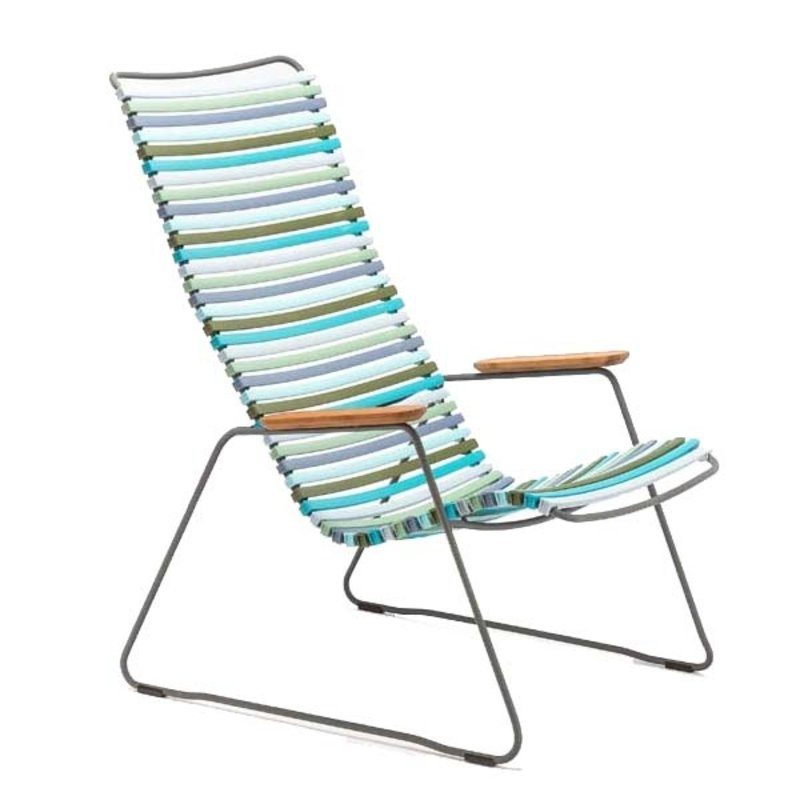 Houe-collectie CLICK Lounge Chair with Multi color 2 lamellas