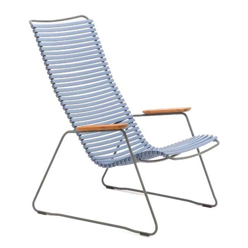 Houe-collectie CLICK Lounge Chair with Pigeon blue lamellas