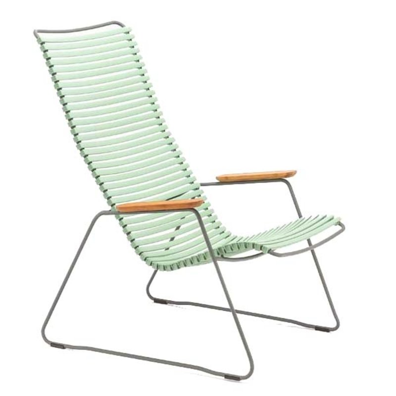 Houe-collectie CLICK Lounge Chair with Dusty green lamellas