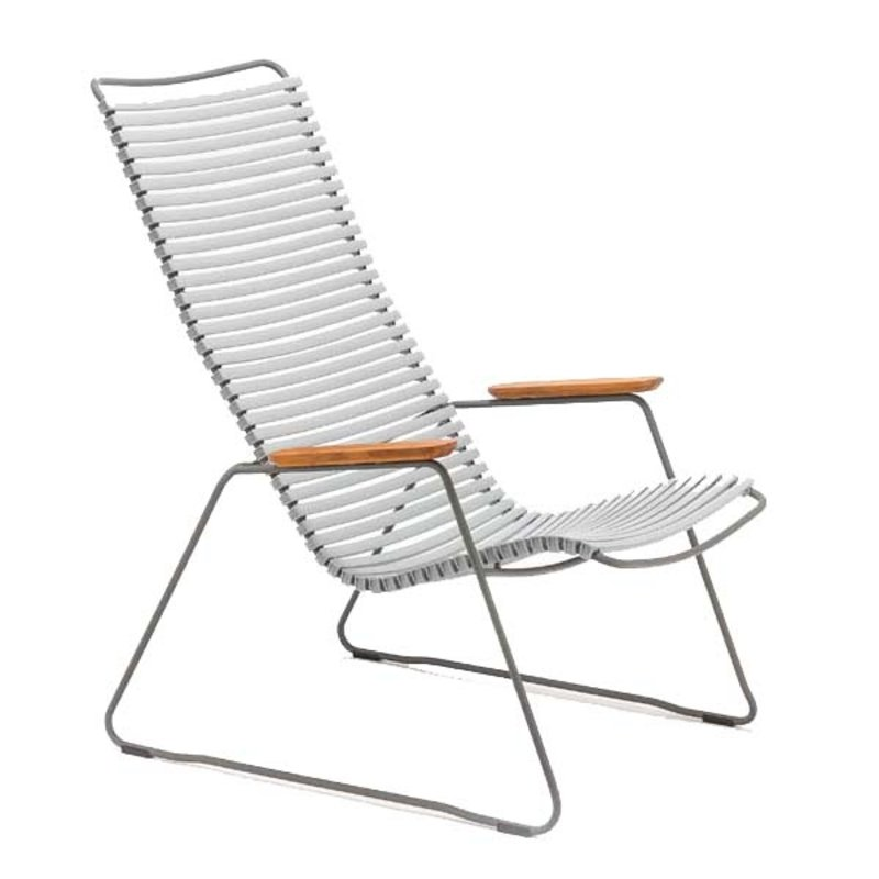 Houe-collectie CLICK Lounge Chair with Grey lamellas