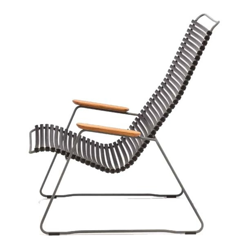 Houe-collectie CLICK Lounge Chair with Black lamellas
