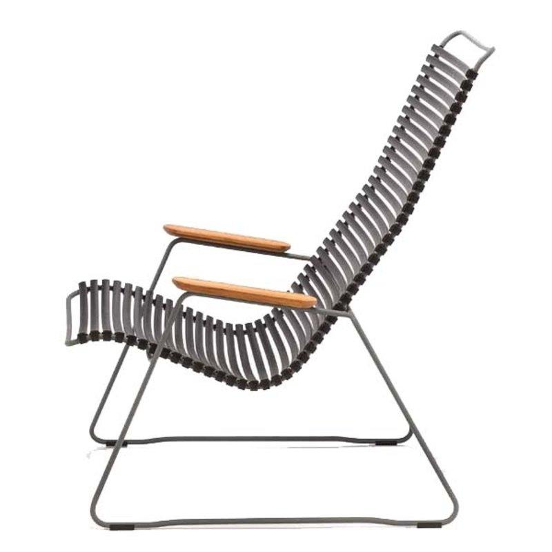 Houe-collectie CLICK Lounge Stoel Zwart