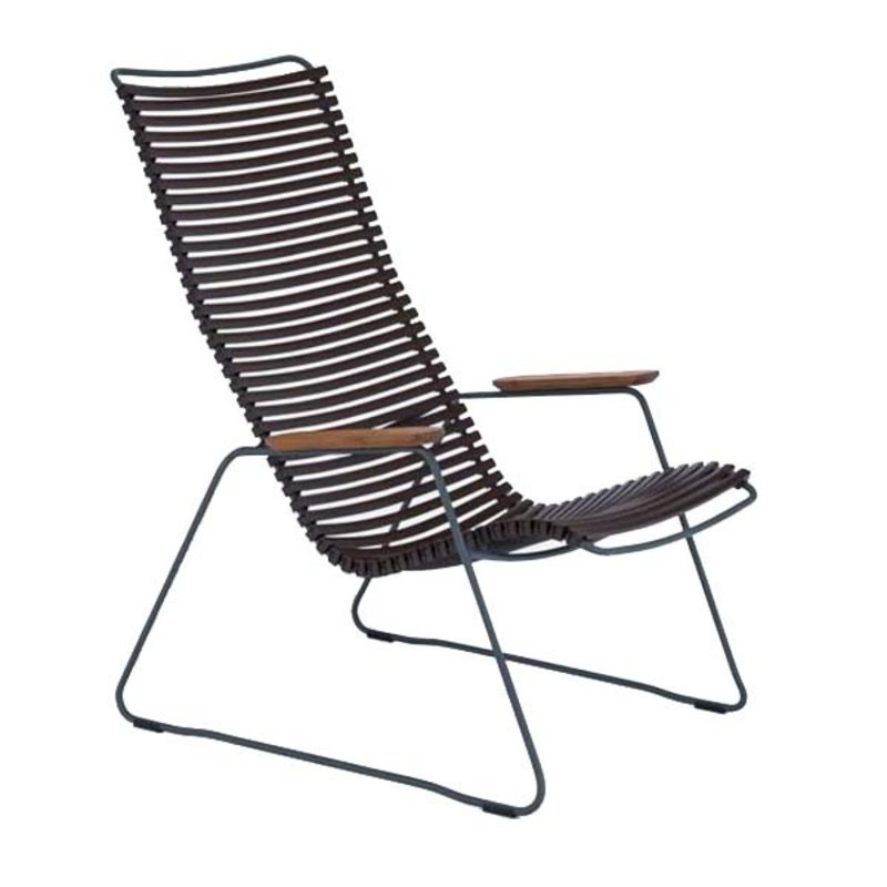 Houe-collectie CLICK Lounge Chair with Dark Brown lamellas