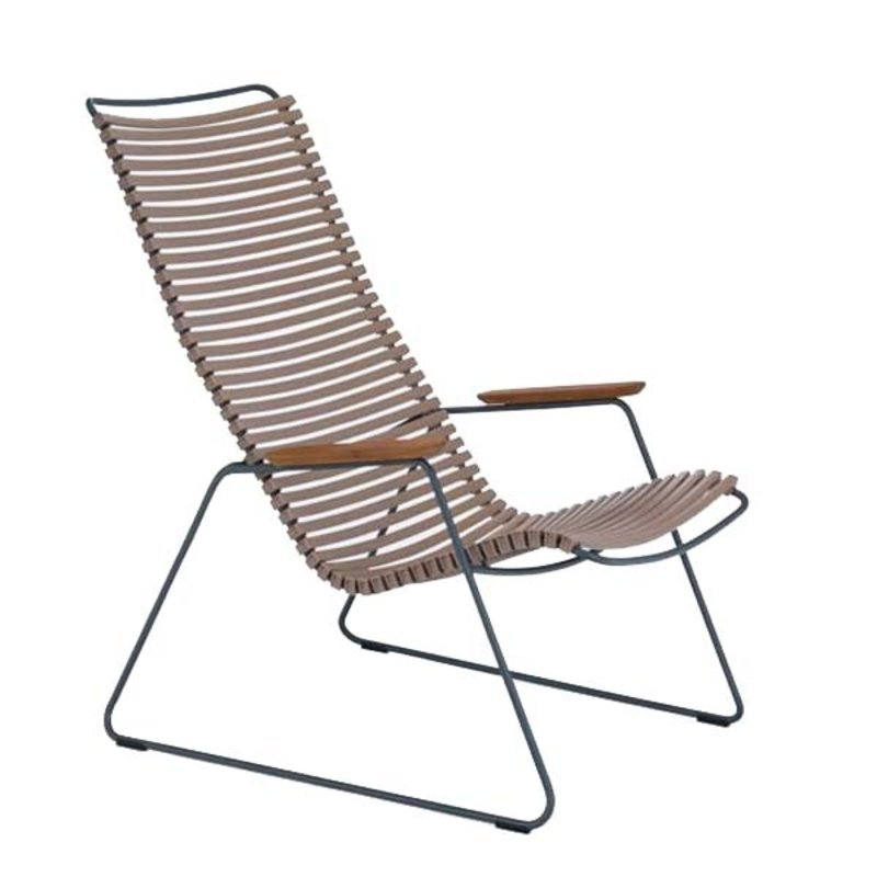 Houe-collectie CLICK Lounge Chair with Sand lamellas