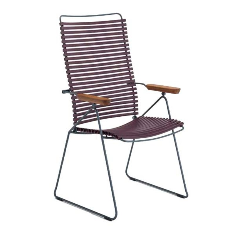 Houe-collectie CLICK Position Chair with armrests in bamboo Plum