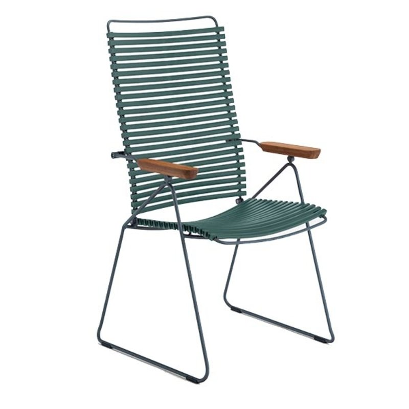 Houe-collectie CLICK Position Chair with armrests in bamboo Pine Green