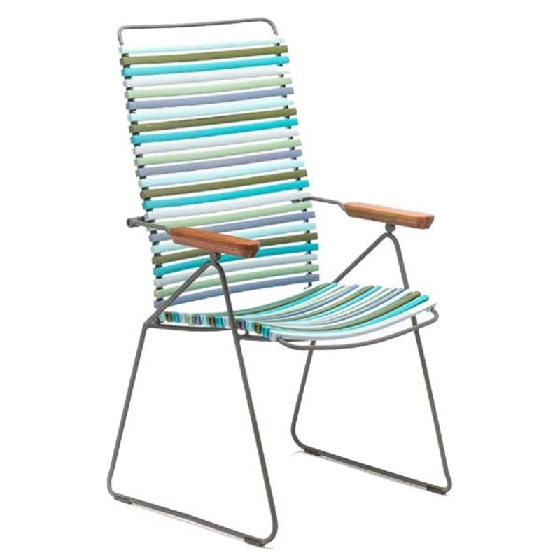 Houe-collectie CLICK Position Chair with armrests in bamboo Multicolor 2