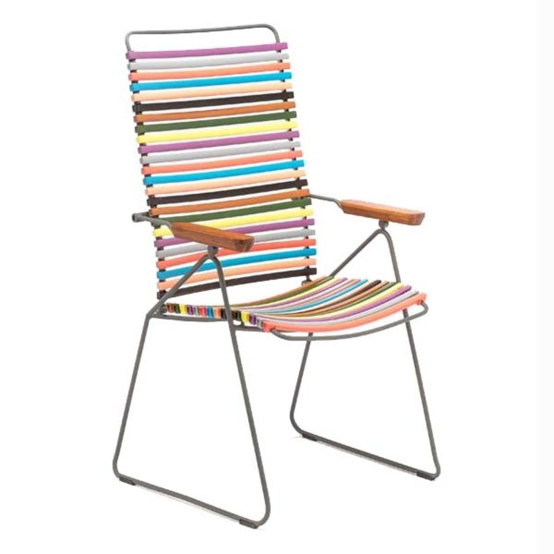 Houe-collectie CLICK Position Chair with armrests in bamboo Multicolor 1