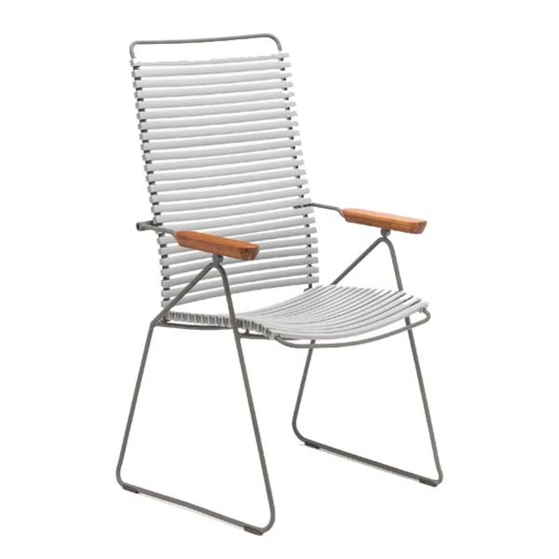 Houe-collectie CLICK Position Chair with armrests in bamboo Grey